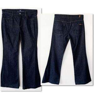 7 For All Mankind Jeans - 7 FOR ALL MANKIND GINGER FLARE DENIM BLUE JEANS